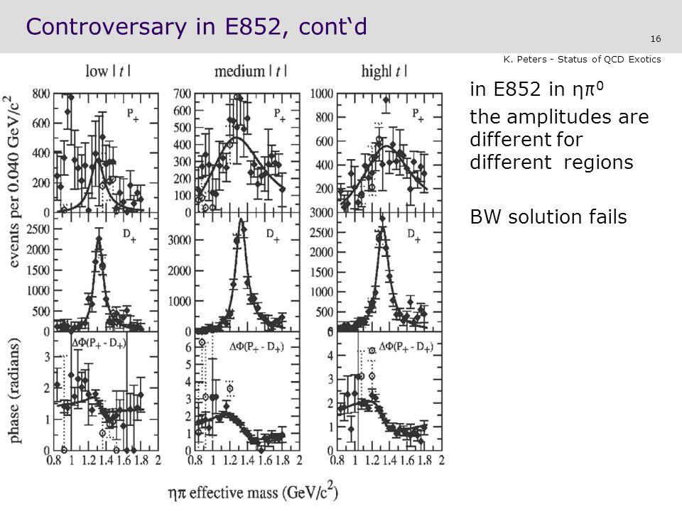 Controversary in E852, cont'd