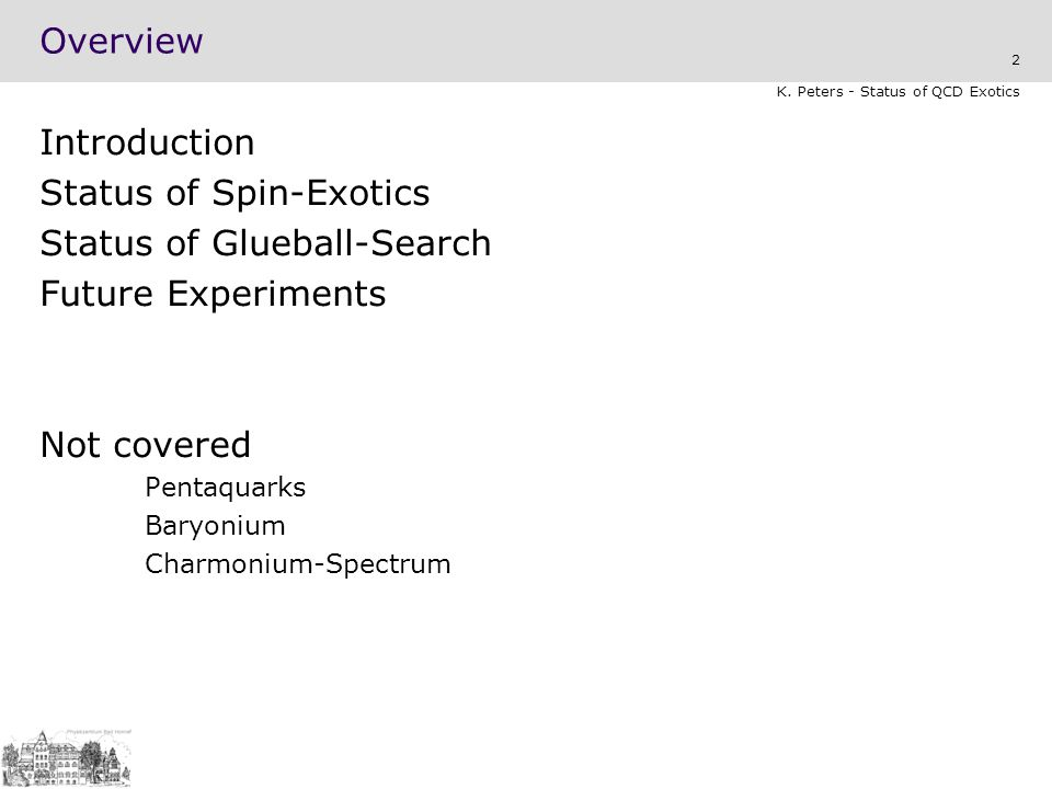 Status of Spin-Exotics Status of Glueball-Search Future Experiments