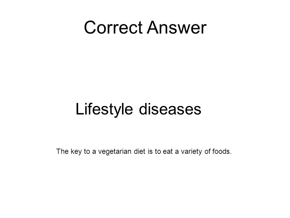Correct Answer Lifestyle diseases