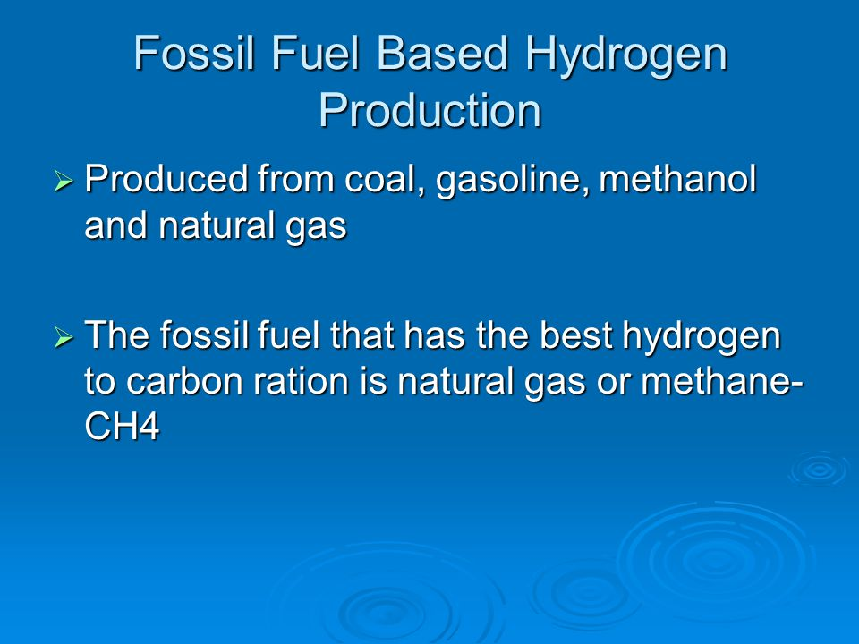 Fossil Fuel Based Hydrogen Production