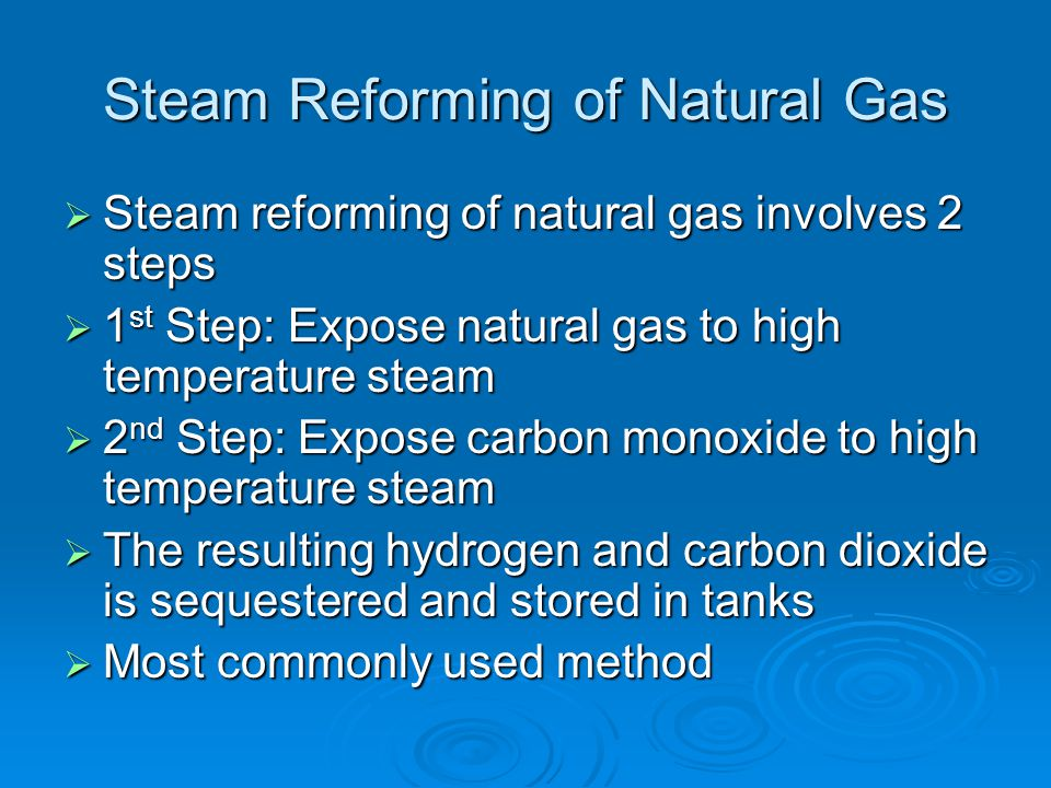 Steam Reforming of Natural Gas