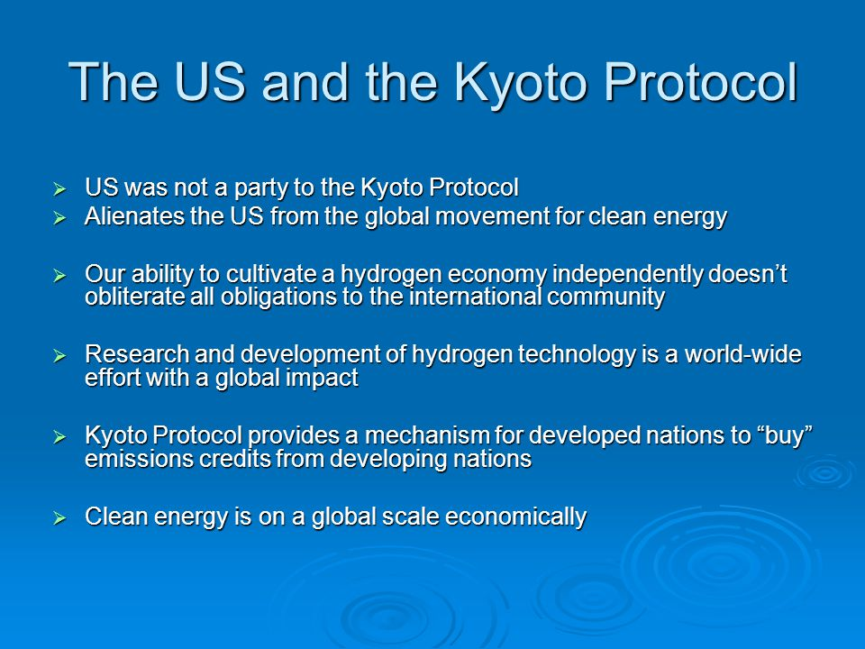 The US and the Kyoto Protocol