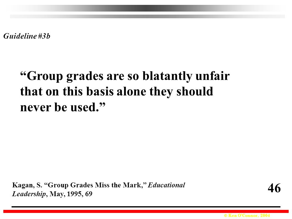Group grades are so blatantly unfair