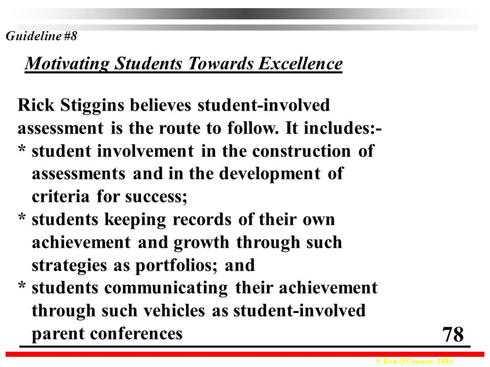78 Motivating Students Towards Excellence