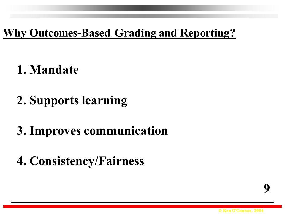 3. Improves communication 4. Consistency/Fairness