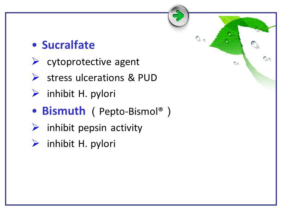 Bismuth (Pepto-Bismol®)