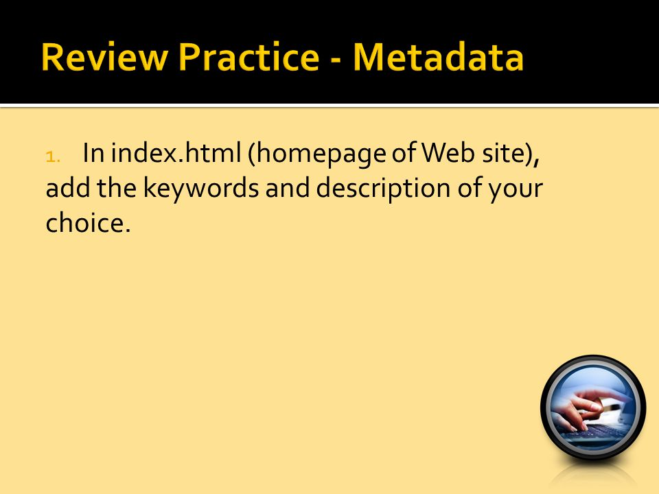 Review Practice - Metadata