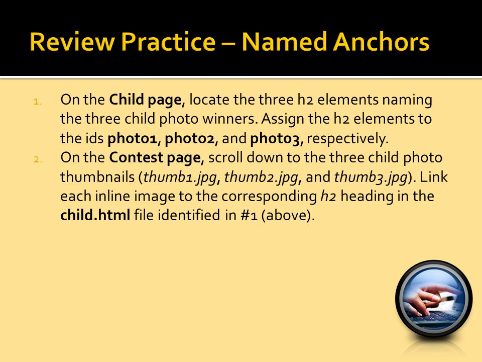 Review Practice – Named Anchors