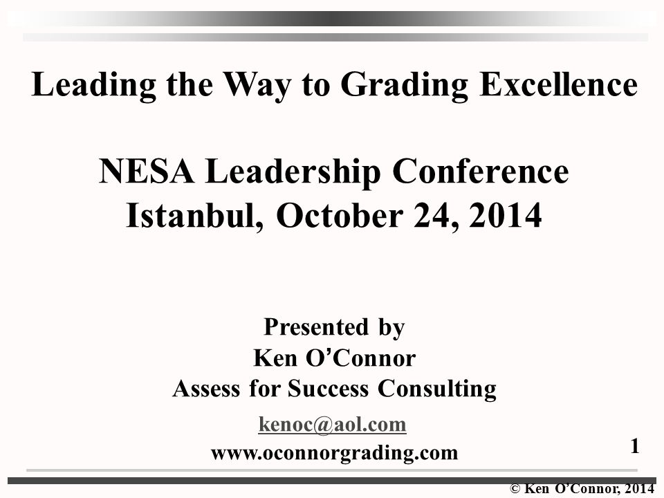 NESA Leadership Conference Istanbul, October 24, 2014