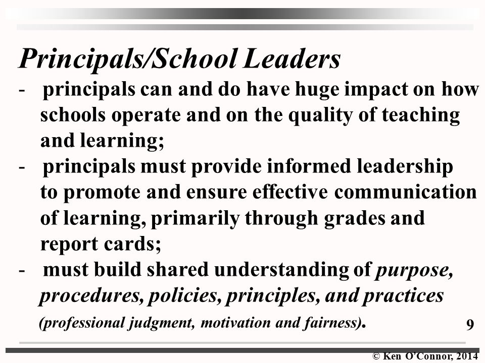 Principals/School Leaders