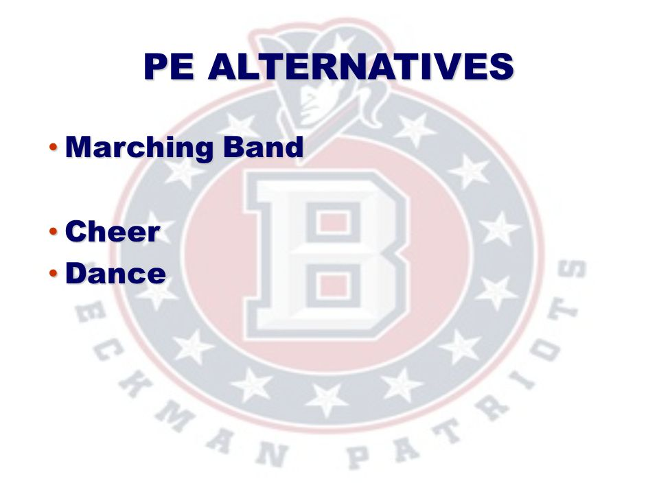 PE Alternatives Marching Band Cheer Dance