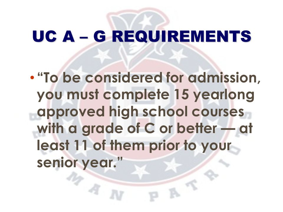 UC A – G Requirements