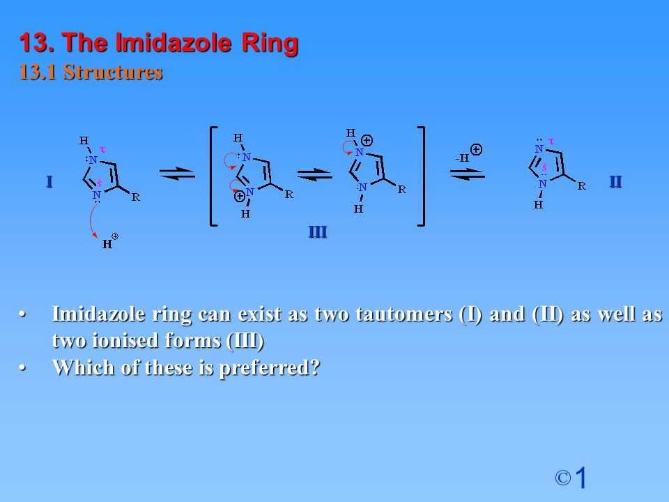 13. The Imidazole Ring 13.1 Structures