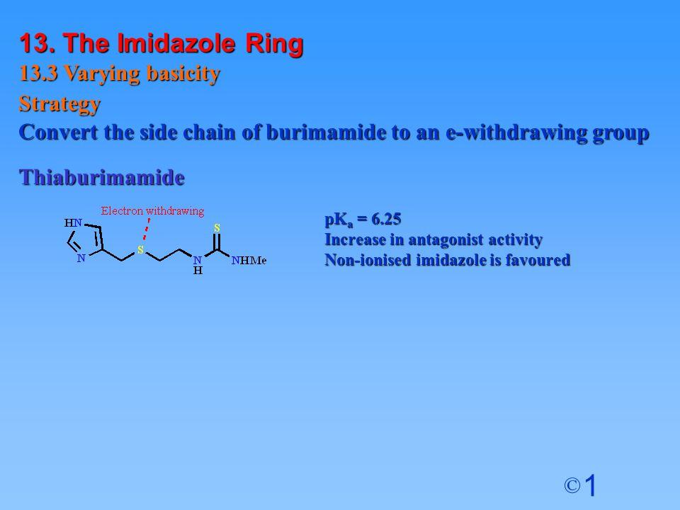 13. The Imidazole Ring 13.3 Varying basicity Strategy