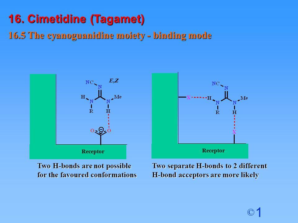 16. Cimetidine (Tagamet) 16.5 The cyanoguanidine moiety - binding mode