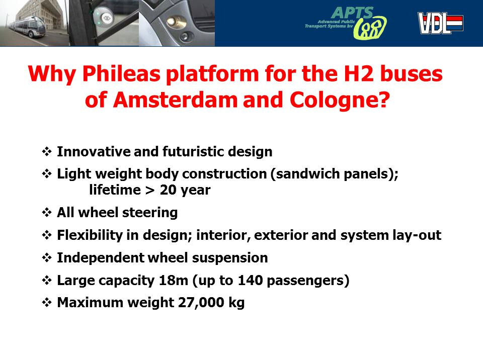 Why Phileas platform for the H2 buses of Amsterdam and Cologne