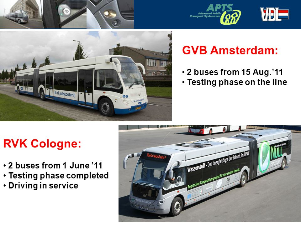 GVB Amsterdam: RVK Cologne: 2 buses from 15 Aug.'11