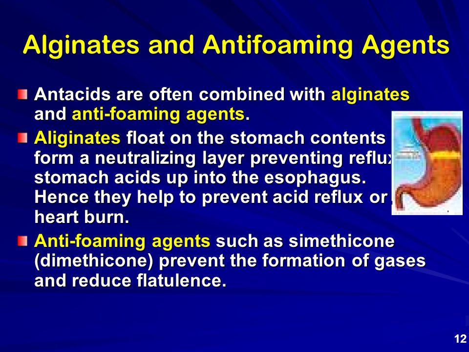 Alginates and Antifoaming Agents
