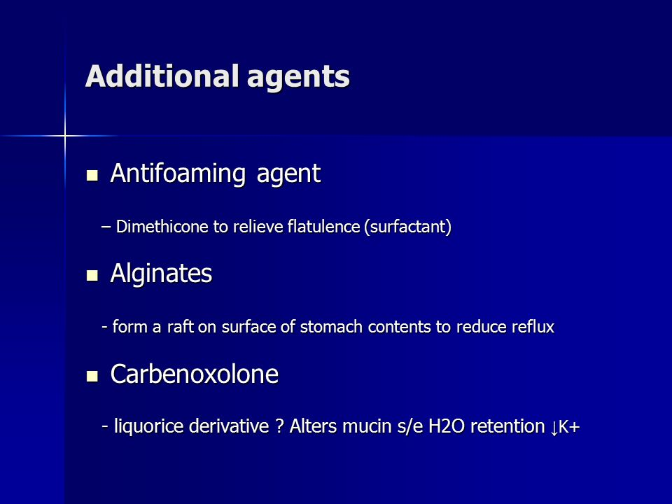 Additional agents Antifoaming agent