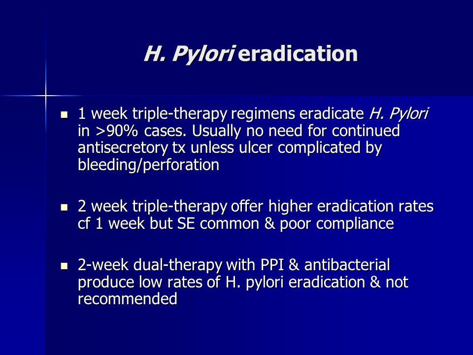 H. Pylori eradication