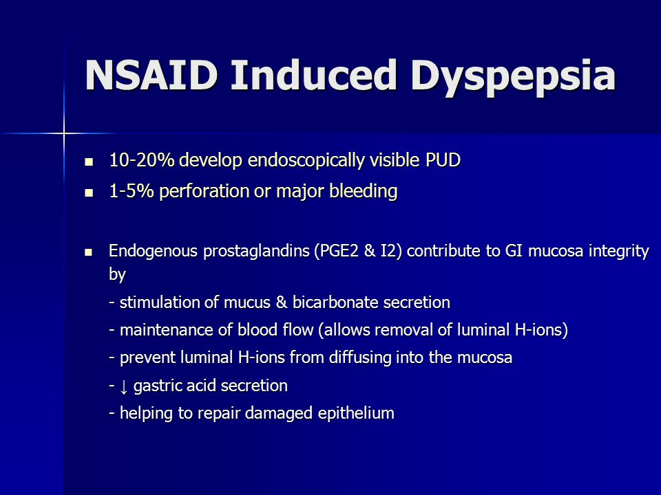 NSAID Induced Dyspepsia
