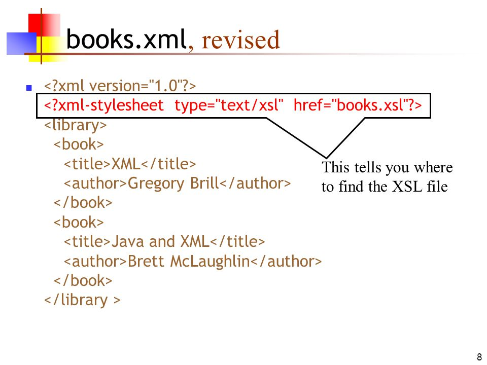 books.xml, revised