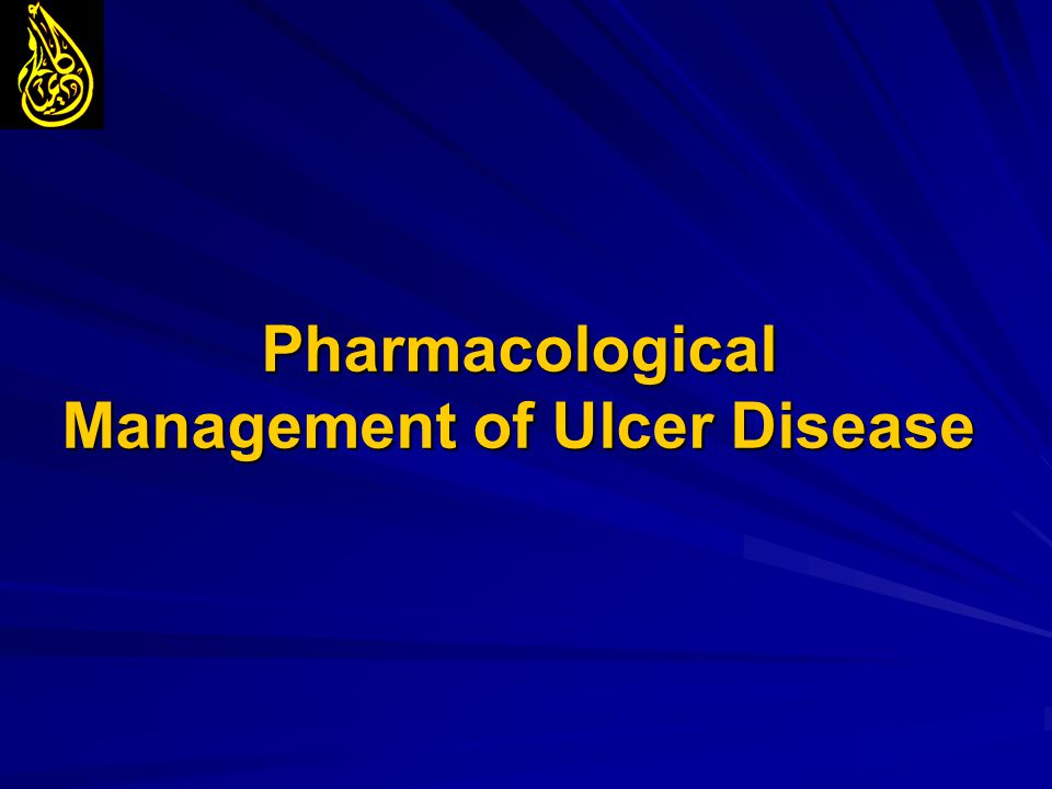 Pharmacological Management of Ulcer Disease