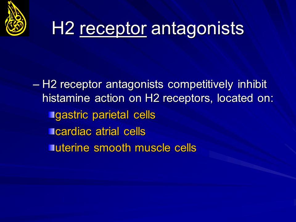 H2 receptor antagonists