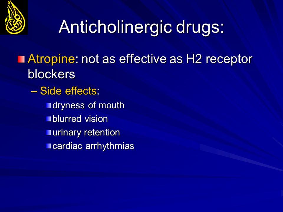 Anticholinergic drugs: