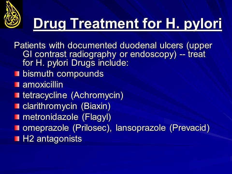 Drug Treatment for H. pylori