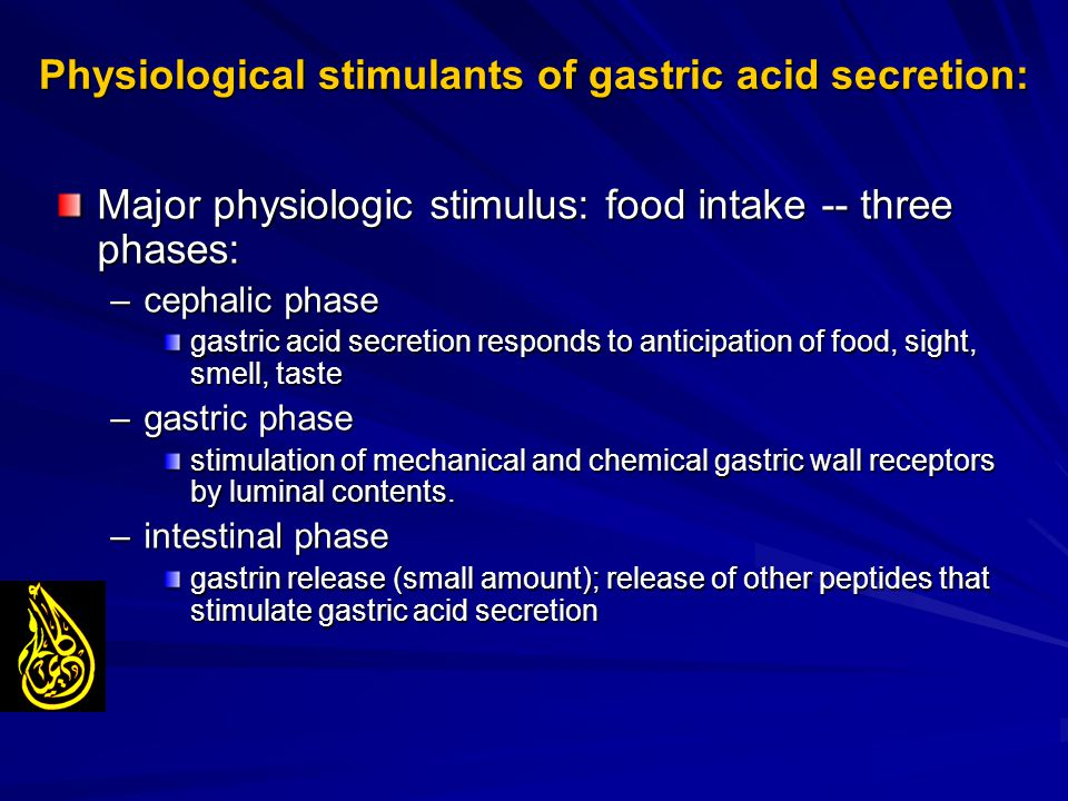 Physiological stimulants of gastric acid secretion: