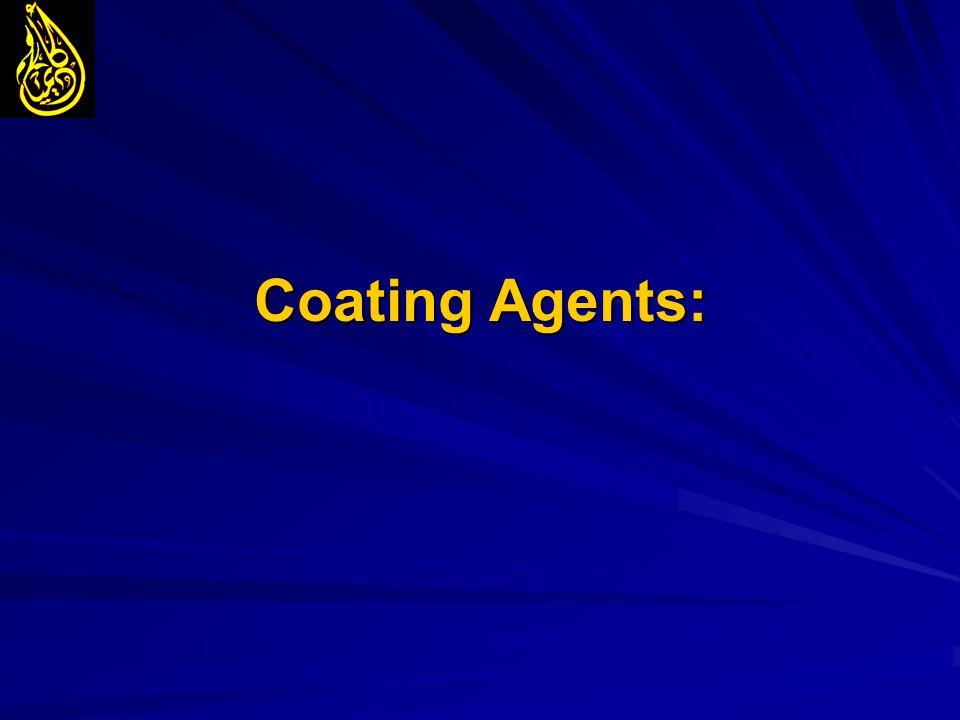 Coating Agents: