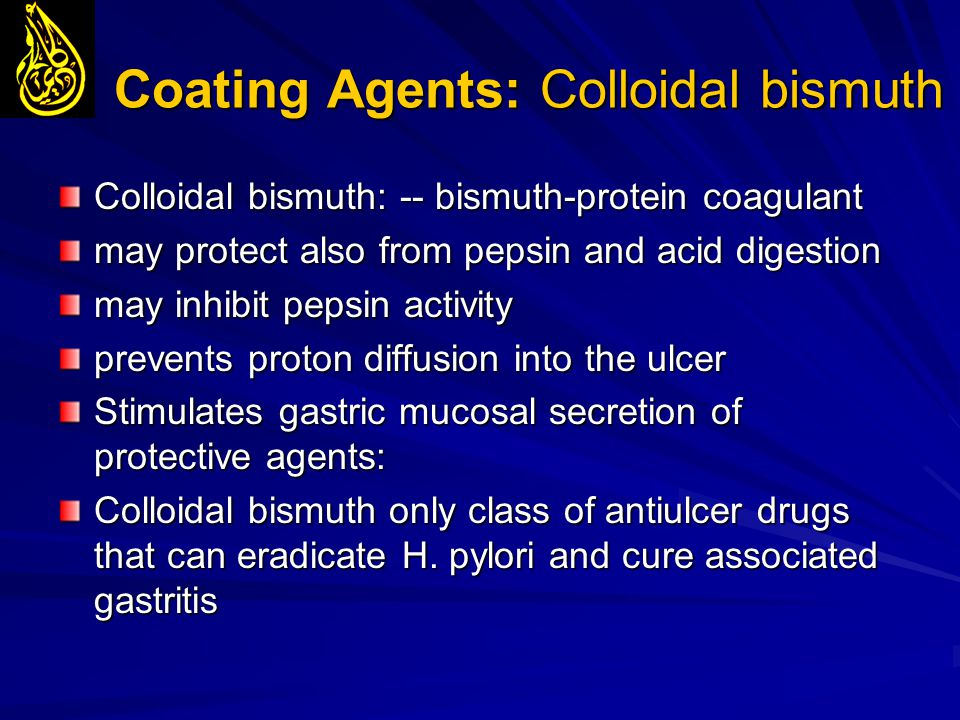 Coating Agents: Colloidal bismuth