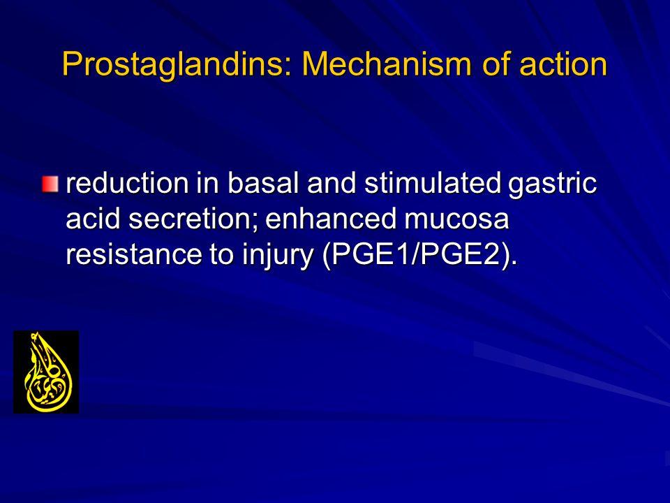 Prostaglandins: Mechanism of action