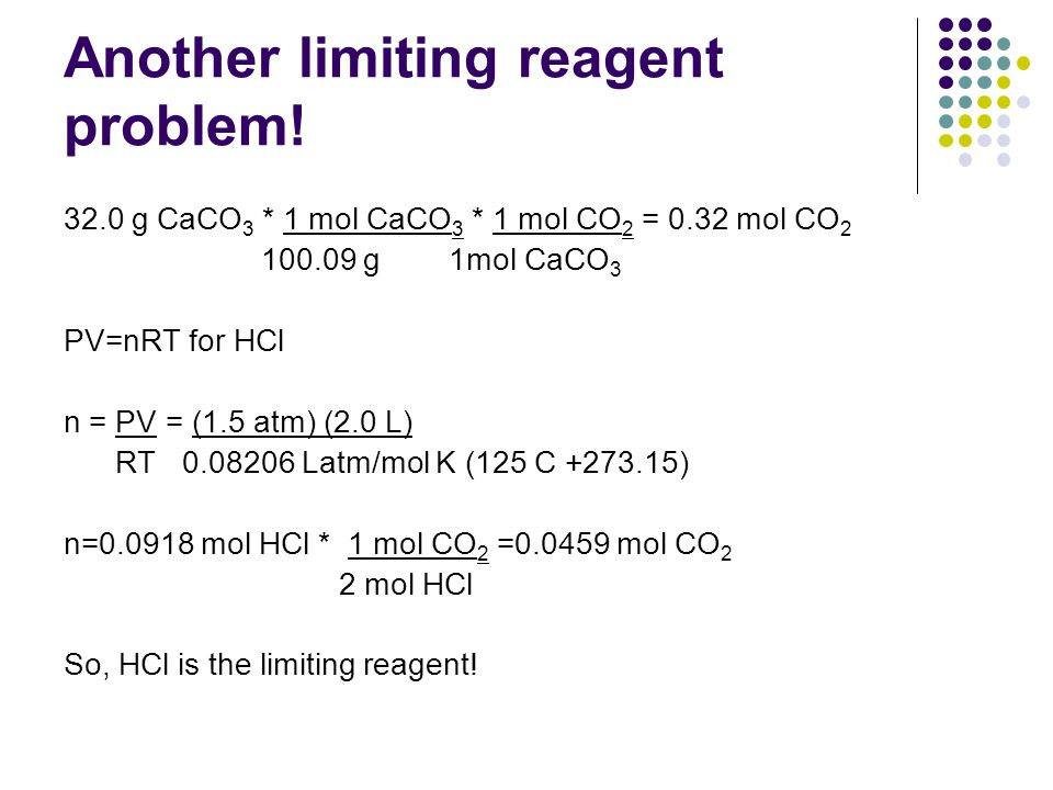Another limiting reagent problem!