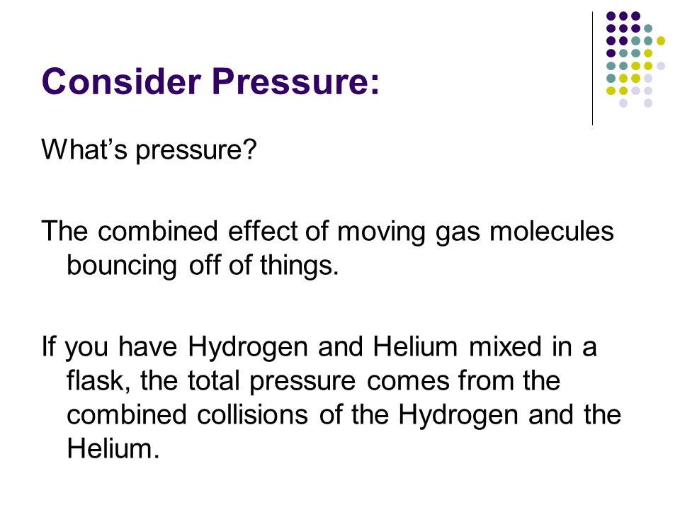 Consider Pressure: What's pressure