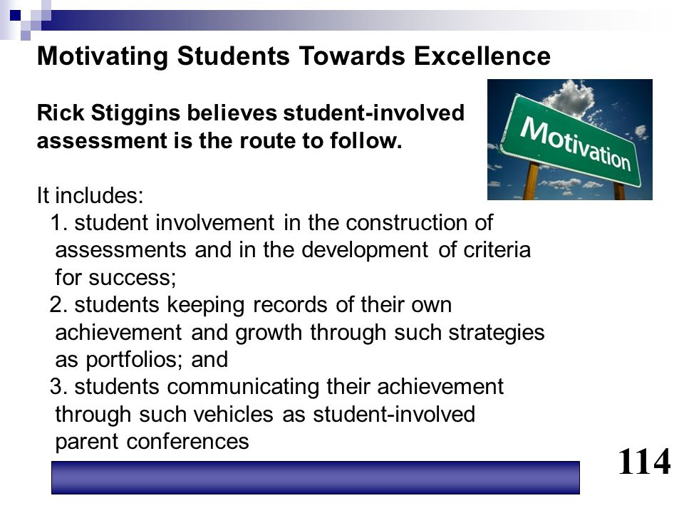 114 Motivating Students Towards Excellence