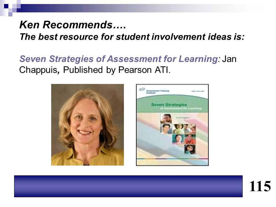 Ken Recommends…. The best resource for student involvement ideas is: