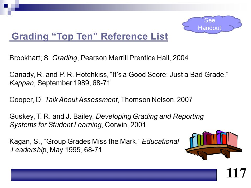 117 Grading Top Ten Reference List