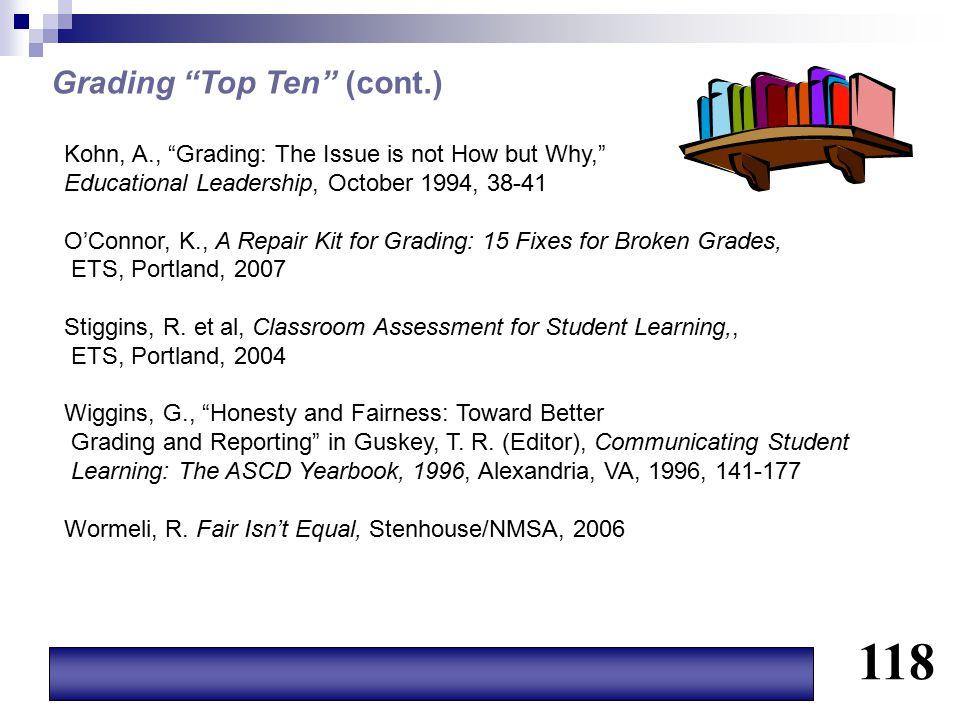 118 Grading Top Ten (cont.)