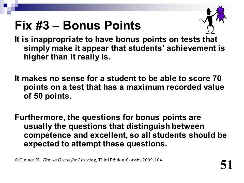 Fix #3 – Bonus Points