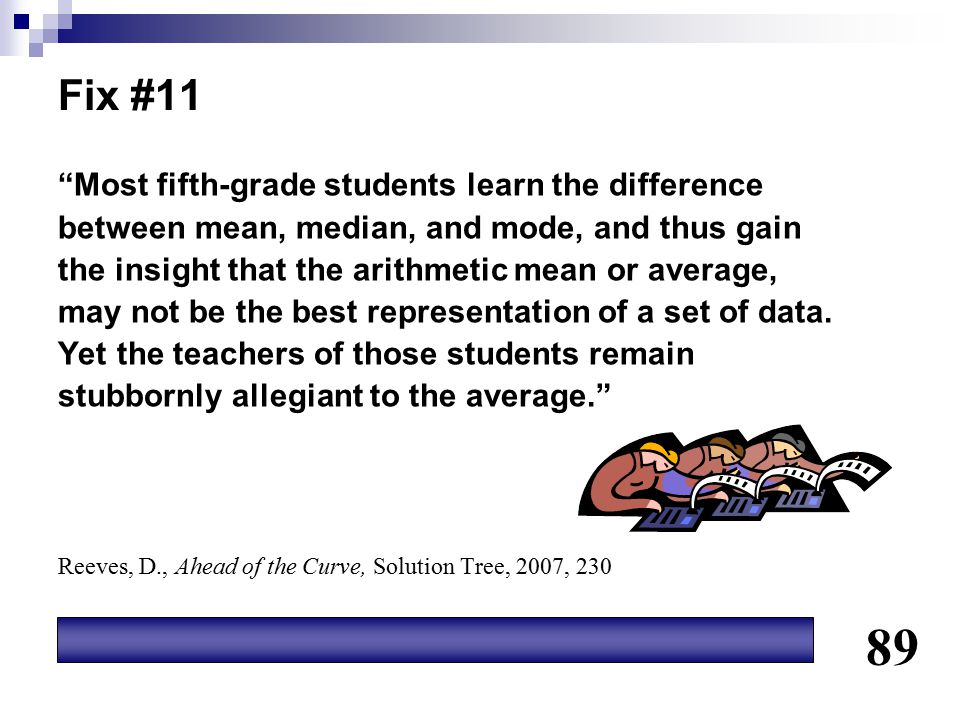 89 Fix #11 Most fifth-grade students learn the difference