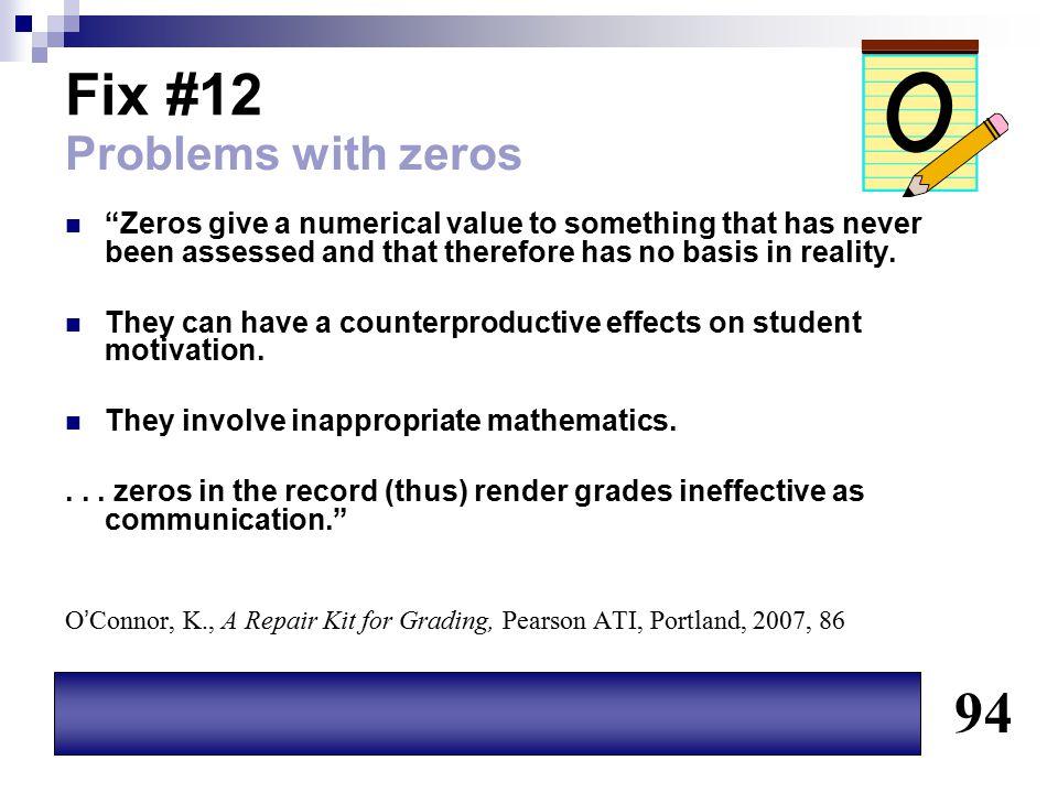 Fix #12 94 Problems with zeros