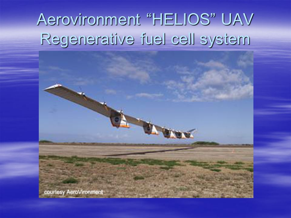 Aerovironment HELIOS UAV Regenerative fuel cell system