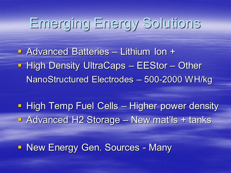 Emerging Energy Solutions
