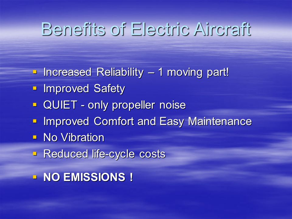Benefits of Electric Aircraft