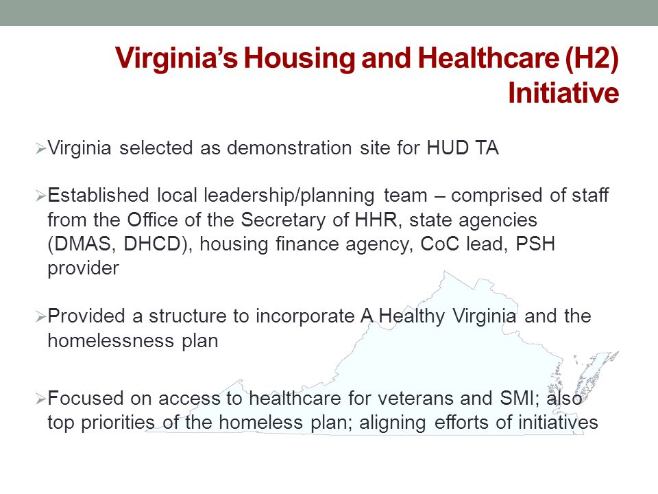 Virginia's Housing and Healthcare (H2) Initiative