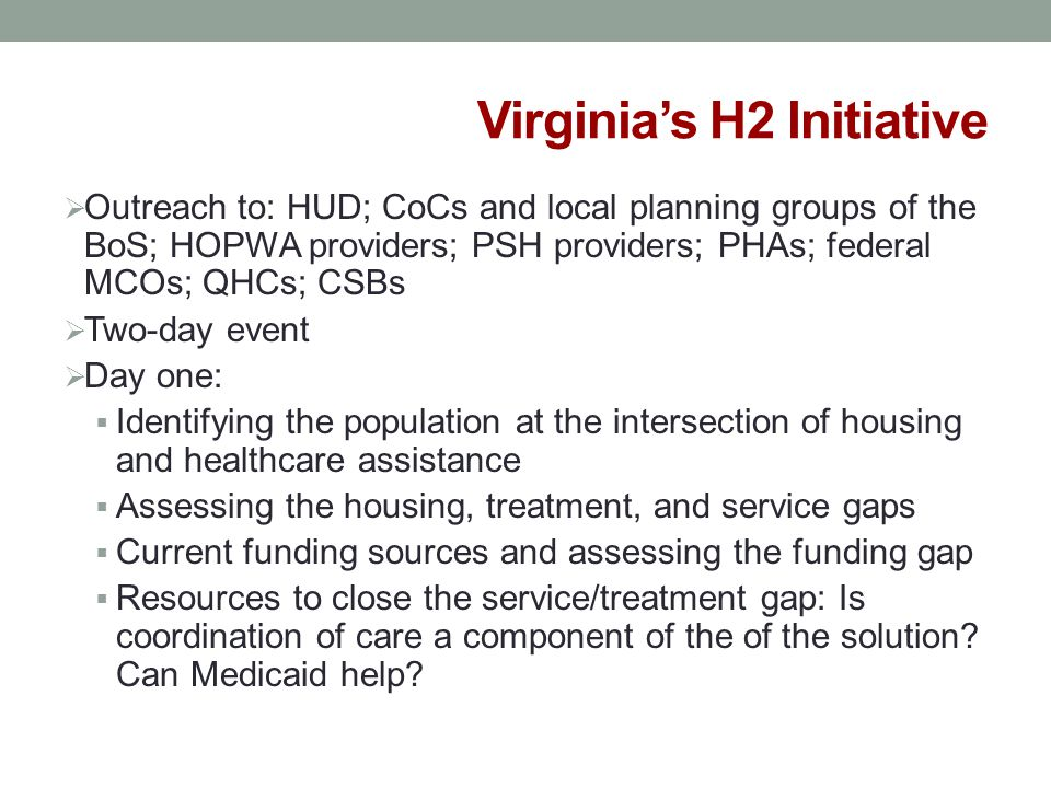Virginia's H2 Initiative