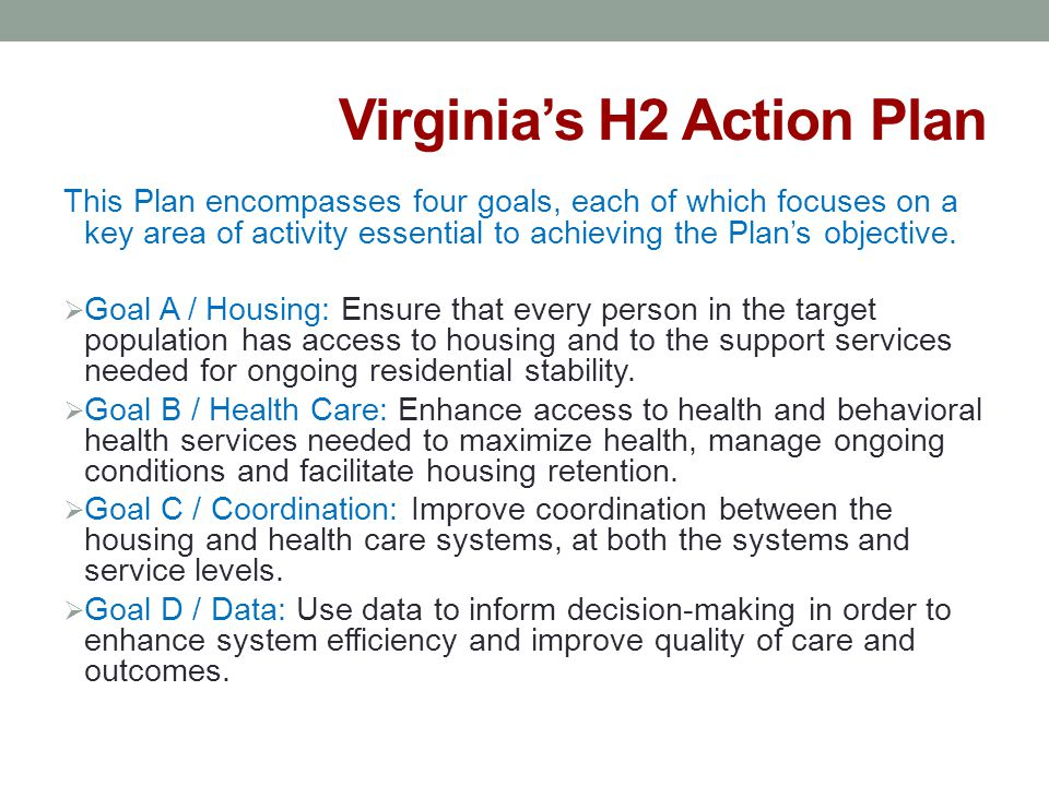 Virginia's H2 Action Plan