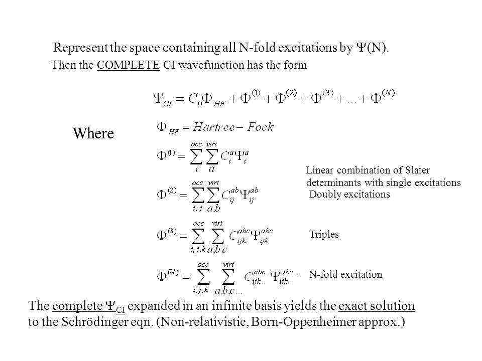 Where Represent the space containing all N-fold excitations by Y(N).